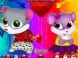 Очень яркая и красочная игра одевалка подойдет даже для детей. Цель игры подобрать для двух влюбленных мышат самые симпатичные костюмы, в которых они станут еще симпатичнее.