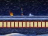 Эта игра создана по мотивам одноименного мультфильма. Цель игры догнать билет, который унесло ветром. Для этого управляй героем, что бы он бежал и перепрыгивал через льдины. Так же уворачивался от деревьев. Их можно перепрыгнуть, а под высокими ветвями лучше всего пригнуться. Используй стрелки, что бы управлять персонажем.