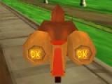 Donkey Kong Bike 3D игра про экстремальные гонки на байках. Трехмерная графика и реалистичный пейзаж подарят вам максимум удовольствий от скоростной езды. Ваша задача обогнать всех соперников и прийти к финишу самым первым.