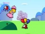 Эта игра для детей о том, как Отважная принцесса отправилась в путешествие на своем волшебном зонтике. Ты должен помочь ей пролететь как можно дальше. Управляй полетом принцессы при помощи стрелок, а что бы она кидала в противников фрукты нажимай на пробел.
