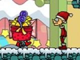 С приходом Рождества началось безумие. Нашествие подарков. Некоторые просто падают на голову. Что бы пройти уровень в этой игре управляй рождественским эльфом при помощи стрелочек на клавиатуре. Не дай подаркам упасть на тебя. Запрыгивай на них, что бы упаковать и отправить. На большие подарки придется прыгнуть несколько раз.
