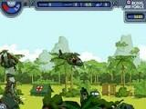 Задача игры состоит в том, что вам нужно собирать на вертолёте людей, при этом не врезаясь в здания и облетая пули выпущенные оружием и т.п., управление клавиатура.