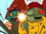 В этом году Санта Клаусу не повезло. Он забрел в город в котором все дети превратились в зомби. Теперь вместо того, что бы дарить подарки, он тщательно старается выжить. Твоя задача помочь ему отбить атаку зомби. Красочная стрелялка шутер покажет Вам санту с другой стороны. Используй стрелки, что бы Санта передвигался, а мышку для того что бы прицеливаться и стрелять.