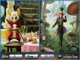 Игра по фильму Алиса в стране чудес, в которой есть несколько уровней с двумя кадрами, а ваша задача — отыскать предметы, которые присутствуют на обеих картинках.