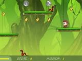 Небольшая и приятная флеш-игра. Прыгай мартышкой за бананами, подбирай бонусы полезные, бойся змей!
