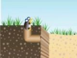 Цель этой логической игры напомнит Вам классический тетрис и игру про трубопровод одновременно. Ваша задача расставлять падающие блоки так, что бы построить норку, по которой крот проберется к себе домой.