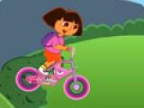 Даша очень любит спорт. Прогулки на велосипеде ее любимое занятие. Помоги ей, как можно быстрее, добраться до финиша и при этом не перевернуться.