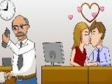 Игра Офисные поцелуйчики - целуйтесь, пока шеф занят.