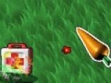 Помогите червячку собрать как можно больше фруктов что бы вырасти. Для этого маните его морковкой в нужном направлении. Но смотрите что бы он не съел и морковку. Управление осуществляется при помощи компьютерной мыши.