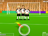 Бывают такие моменты В футболе, когда от одного удара зависит исход всей игры. Ваша задача забить гол в ворота соперника. Совершите штрафной удар так, что бы не пришлось краснеть перед командой.
