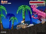 В этой игре Вы отправляетесь в джунгли, где по слухам завелись доисторические рептилии! Сражайтесь с динозаврами и не забывайте улучшать свое транспортное средство и боевой арсенал.