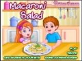 Перед Вами очень увлекательная игра для девочек, которые любят готовить еду. Макароны очень обычное блюдо. Но мало кто знает, что из макарон можно приготовить вкусный салат. Попробуйте следовать инструкциям повара и приготовьте необычное, но очень вкусное блюдо.