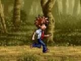 Цель этой игры убежать от своего противника, который явно хочет тебя побить. Перепрыгивай через все предметы на пути, что бы он не догнал тебя. Красочная игра погоня порадует любого игрока, который любит бегать и убегать. Используй стрелки, что бы бежать и перепрыгивать предметы.