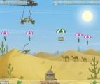 Великолепно реализованная игра на тему парашютистов с использованием ragdoll-анимации. Сюжет, как и в классическом аналоге - парашютисты должны благополучно приземлиться и взорвать Вашу пушку. Не дайте им сделать это, расстреливая их в воздухе!