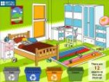 В твоей комнате полнейший беспорядок! Повсюду валяется мусор. Твоя задача не просто убрать его, но постараться разложить в правильные мусорные корзины. Это позволит переработать его с наименьшим вредом для окружающей среды.