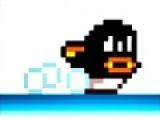 Помоги пингвину наловить как можно больше рыбы. Но ему будут мешать наглые чайки. С ними можно бороться прыгнув им на голову. Передвигается пингвин стрелками на клавиатуре.