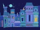 Доброй ночи, мистер Snoozleberg, эпизод первый, вступление. Мистер Snoozleberg - лунатик, бродит по крышам домов ночного города. Ваша задача, как ангел-хранитель, провести дядюшку по нескольким уровням до безопасного места.