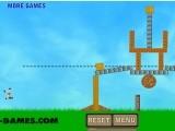 В этой игре Вам придется разрушать постройки, заряжая свой лук кукольными (ragdoll) человечками. Остатки разрушенной постройки не должны выходить за пунктирную линию.