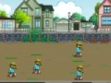 В этой игре тебе предстоит защищать школу от зомби. Для этого у тебя есть целый арсенал оружия и помощники, которые впрочем работают не бесплатно. Тебе предстоит отбить атаку летящих и бегающих зомби.