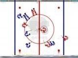 Старый добрый хоккей! Две команды: синие и красные. Выбираешь за кого играть и в бой. Можно выбирать продолжительность периода. Удобное управление. Победи соперников!