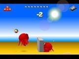 Краб-бол - это пляжный волейбол с симпатичными крабиками.