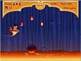 В этой игре, Алладин оседлал свой летающий ковер и с Вашей помощью должен выбраться из волшебной пещеры, избегая лавы и разных препятствий!