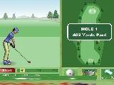 Очень интересная и объемная игра. Справа от игрока находится поле, красная стрелка на нем указывает на направление удара.  На мяче можно установить точку удара по мячу. Можно выбрать клюшку, нажав на стрелку влево и вправо.