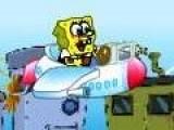 В процессе этой игры Спанч Боб летает на самолете. Он должен сбить все вражеские объекты. Что бы улучшить свое оружие, он должен собирать пузыри падающие с неба. Твоя задача помочь Губке Бобу выполнить миссию. Используй стрелки для управления полетам, а пробел для стрельбы.