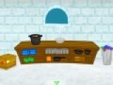Постарайся сбежать из ледяного замка. Для этого броди по комнатам и находи предметы которые помогут осуществить тебе план побега.