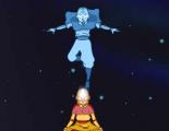 Как-то во время медитации Аанг переместился в мир духов, но в этот что-то пошло не так и без вашей помощи он не может вернуться обратно. Помогите Аангу снова слится со своим духом, перетаскивая символы, которые повторяют изображение символа вверху.