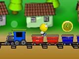 Что бы выиграть маленькому человечку необходимо перепрыгивать с вагона на вагон. Но прыгать нужно только по тем вагонам цвет которых указан вверху.