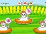 Представь себя хозяином птицефермы. Твоя задача собирать яйца у куриц наседок. Для этого нажимай на них мышкой. Но тебе нужно собирать яйца только те, на которых нарисован такой же рисунок, как и на яйцах, которые находятся в верхней части игрового поля.