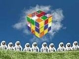 Собираем кубик рубик на фоне луга и неба. В то время как на вас будут пялиться мужики в скафандрах, повторяя Мозги, мозги, мозги. ;)