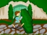 Помоги хоббиту преодолеть участок с препятствиями. он должен их перепрыгнуть. Что бы совершать прыжки, используй кнопки Z и X.