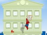 Человек паук испытывает дефицит в одежде и чтоб иметь запас в шортах и футболках он решил позаимствовать из числа тех, что сушатся на окнах домов. Помогите ему в этом нелегком деле.