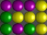 Ваша задача убрать как можно больше шариков с игрового поля. Для этого кликайте мышкой по группам шариков одного цвета.