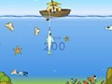 Если Вы фанат рыбалки Вам очень понравится эта игра. Словите за короткое время как можно больше рыбы и другой подводной живности. Но постарайтесь не ловить мусор на свою удочку. Он вам не пригодится.