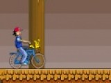 В этой игре Вам предстоит как можно быстрее преодолеть трассу с препятствиями и доставить покемона в пункт назначения. Но Вам нужно постараться, что бы Ваш велосипед не перевернулся на неровной трассе.