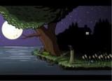 История одного червячка начинается с этого озера, на котором он непонятно как оказался. И теперь он начинает поедать земных существ и набираться сил для новых кровожадных планов!