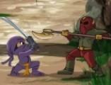 """Маленький Ниндзя 2 (Foot Ninja 2) – это отличная онлайн игра для мальчиков. Хотя драки онлайн порадуют не только детей, но и взрослых. Онлайн игра Маленький ниндзя очень проста в управлении. Стрелочками выбирайте направление движения Ниндзя, а клавиши  """"A"""", """"S"""", """"D"""" отвечают за выполнение боевых приемов. Онлайн игра Маленький ниндзя 2 ждет Вас!"""