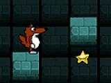 Помогите меленькому зверьку собрать все сокровища спрятанные в лабиринтах подземелья.
