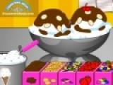 Тина открыла кафе мороженное. Ваша цель выполнять заказы посетителей и готовить вкусное мороженое. В мороженице должно быть два шарика мороженного и разные добавки. Смотрите внимательно рецепт, что бы не перепутать составляющие вкусного десерта.