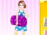 Прикольная игра для девочек перенесет Вас на настоящую пижамную вечеринку. Вы должны подобрать вашей героине лучшую пижамку и прическу, что бы она выглядела по домашнему, но в то же время стильно и красиво.