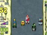 Вы играете за подводного мультяшку Спанч Боба. Вам нужно проехать аккуратно трассу, не попав на край дороги или под катер другого водителя-рыбы. В конце каждого уровня вы приносите ингредиенты мистеру Крабсу.