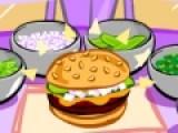 Цель этой игры обслуживание посетителей кафе быстрого питания. Делай для них гамбургеры и коктейли, что бы твой бизнес процветал. Делай все быстро, что бы посетители остались довольны.