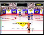 В этом хоккее Вы можете забить голы или сбить шайбой с ног своих оппонентов. Весьма веселая игрушка!