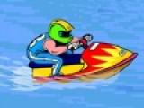 В этой игре Вам удастся погонять на скоростном водном мотоцикле. Но что бы он не заглох, собирайте баки с горючим и золотые монеты. Постарайтесь избежать столкновения с деревьями. Что бы управлять моторным транспортом, используйте стрелки на клавиатуре.