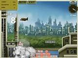 Вы управляете самолетом и сбрасываете бомбы на город. Количество бомб ограничено и вы должны нанести городу заданный процент повреждений, чтоб выполнить каждую миссию.