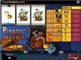 Красочный игровой автомат Однорукий пират :-) Наполните свой сундук золотом! Без удачи не обойтись!