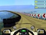 Гонки на скоростных болидах по трассам, парящим в небесах! Шум ветра и рев моторов! Очень красивая и затягивающая 3D игра!
